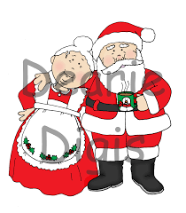 free dearie dolls digi stamps santa sighting on etsy mr and mrs