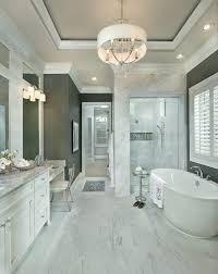 Recessed Bathroom Vanity by Bullnosed Porcelain Tile Edges Bathroom Transitional With Marble