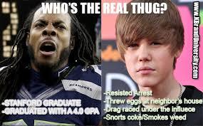 Sherman Meme - real thug justin bieber know your meme