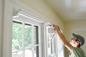 How To Shorten Window Blinds Installing White Faux Wood Window Blinds Young House Love