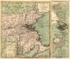 Map Of New England Colonies by Massachusetts Colony