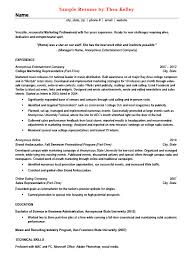 Sample Resumes For Part Time Jobs by Gallery Thea Kelley Career Services