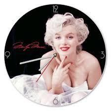 Marilyn Monroe Wall Decor Marilyn Monroe Signature Cordless Wood Wall Clock Home Decor
