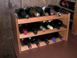 creative and classy tabletop wine rack