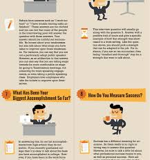 top 10 job interview questions with answers infographic