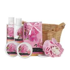 peony vanilla spa gift basket wholesale at koehler home decor