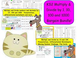 ks2 multiply u0026 divide by 1 10 100 and 1000 bargain bundle by