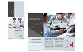 corporate business tri fold brochure template word u0026 publisher