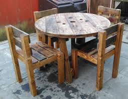 Cable Reel Chair Pallet Or Cable Reel Table And Chair Sets Upcycled Hand Made
