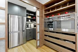 dining kitchen sliding door divider with kitchen remodeling remodeling ideas and small kitchen layouts also wood floors with stainless steel appliances and kitchen shelves plus inexpensive kitchen cabinets