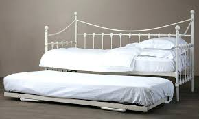 texture white metal trundle day bed rails firenze white metal