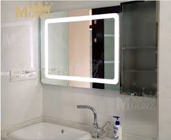 anti steam bathroom mirror mgonz with touch switch led anti fog bathroom mirror double switch