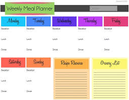 best 25 meal planning templates ideas on pinterest menu