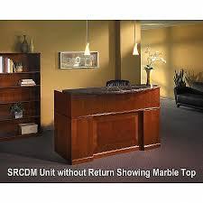 Granite Reception Desk Sorrento Reception Desk With Granite Counter Right Ada Return