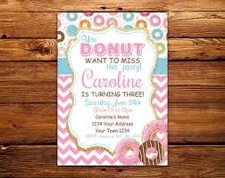 donut invite etsy