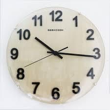 Horloge Murale Rouge by Aliexpress Com Acheter Grand Rond 12 Pouces 30 Cm En Bois Sans