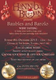 baubles u0026 barolo christmas wine tasting hannibal brown wines