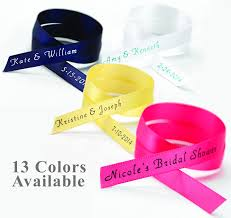 personalized ribbon for favors personalized wedding ribbon home design hay us
