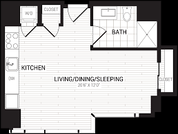 floor plans 1305 dock street apartments the bozzuto group