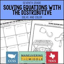 solving equations with the distributive property by maneuvering