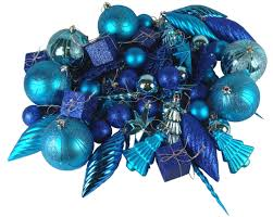 125 piece club pack of shatterproof regal peacock blue christmas