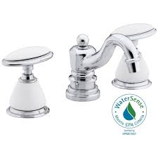 Antique Brass Bathroom Faucet by Kohler Widespread Bathroom Sink Faucets Bathroom Sink Faucets