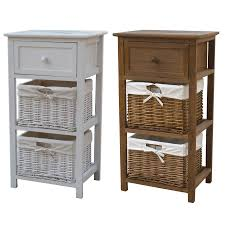 Furniture Storage Units Charles Bentley Home Wicker Storage Baskets Wooden Frames