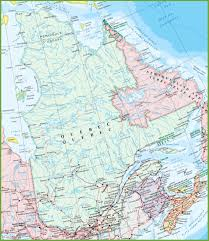 Canada Highway Map by Large Detailed Map Of Quebec