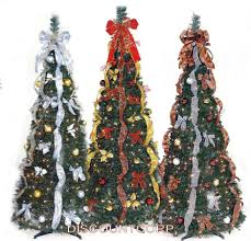 pre lit decorated tabletop trees pop up flip