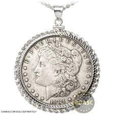 silver coin necklace pendants images Buy sterling silver coin bezel pendant morgan or peace dollar jpg