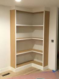 Wooden Shelves Plans by Bookcase Diy Corner Bookcase Video Withheart Corner Bookcase
