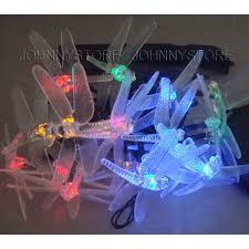 solar powered string light 20 led four colors light