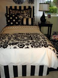 black and white dorm room bedding set and dorm decor decor 2 ur door