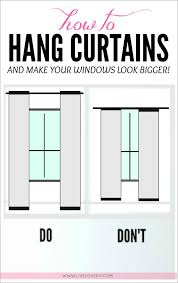 Short Curtain Panels by How To Hang Curtains To Make Any Window Look Bigger Great Tips In