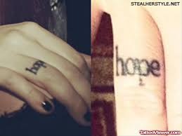 tattoo finger hope hope word tattoo on finger tattoo viewer com