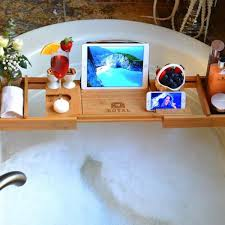Tray For Bathtub Luxury Bathtub Caddy Tray Natural Color Royal Craft Wood Eco