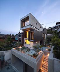three story homes grey contemporary exterior design from a three story house in