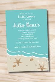 beach bridal shower invitation ocean sand destination wedding