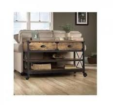 industrial console table with drawers industrial sofa table with wheels rustic console 2 drawers modern