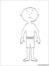 coloring caillou coloring pages