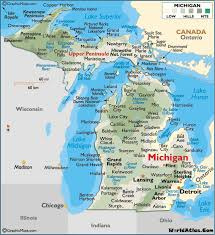 map of michigan map of michigan large color map