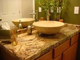 bathroom design using brown onyx bathroom vanity including