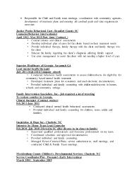 Counseling Treatment Plans For Children Jennifercolemanprofessional Resume