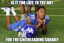 Football Player Meme - best kentucky football memes from the 2015 season