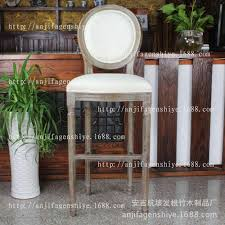 2018 high end solid wood bar stool soft and comfortable high stool