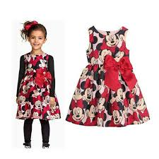 baby dress mouse summer style cartoon printing little