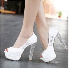 white lace wedding shoes aliexpress buy womens wedding shoes 2016 high heels