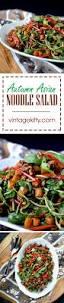 autumn asian noodle salad vintage kitty