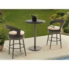 High Bistro Table Set Outdoor 42 Inch Height Mia Industrial Chic Indoor Outdoor Pub Table And