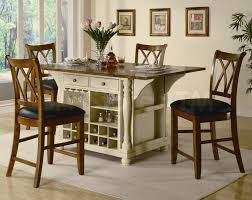 delighful kitchen island table with storage modern chairs coupled